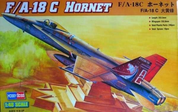 Amerykański wielozadaniowy myśliwiec F/A-18C Hornet , plastikowy model do sklejania Hobby Boss nr 80321 w skali 1:48-image_Hobby Boss_80321_1
