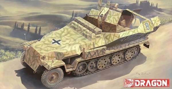 Niemiecka samobieżna armata przeciwlotnicza Sd.Kfz.251/17, plastikowy model do sklejania Dragon 6592 w skali 1:35.-image_Dragon_6592_1