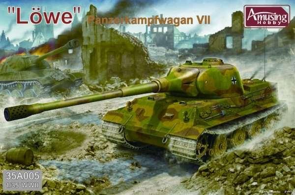 Niemiecki super ciężki czołg Pz.Kpfw. VII Lowe (lew), plastikowy model do sklejania Amusing Hobby 35A005-image_Amusing Hobby_35A005_1