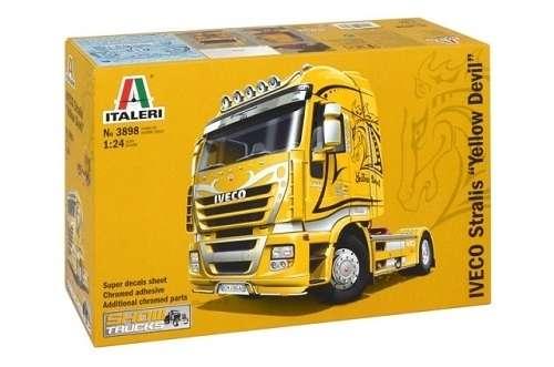 Samochód ciężarowy marki IVECO Stralis, plastikowy model do sklejania Italeri 3898 w skali 1:24-image_Italeri_3898_1