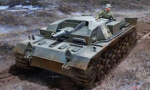 Niemieckie działo samobieżne Stug III ausf. A, plastikowy model do sklejania Dragon 6860 w skali 1:35-image_Dragon_6860_1