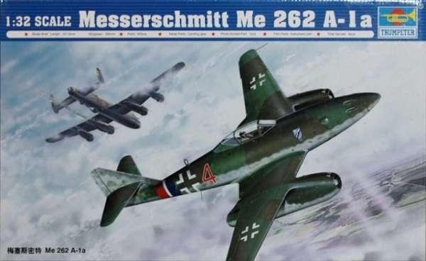 Niemiecki samolot Messerschmitt Me 262 A-1a, plastikowy model do sklejania Trumpeter 02235 w skali 1:32-image_Trumpeter_02235_1