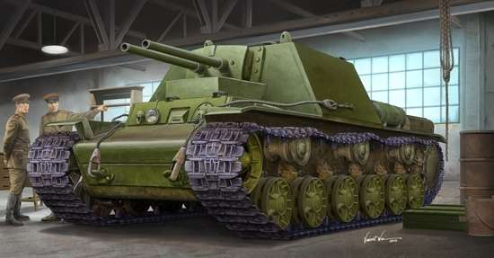 Radziecki prototypowy czołg KW-7 Obiekt 227, plastikowy model do sklejania Trumpeter 09504 w skali 1:35-image_Trumpeter_09504_1