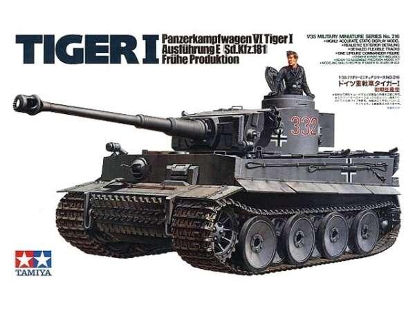 Niemiecki czołg Tiger I  (wczesna produkcja), plastikowy model do sklejania Tamiya 35216 w skali 1:35.-image_Tamiya_35216_1