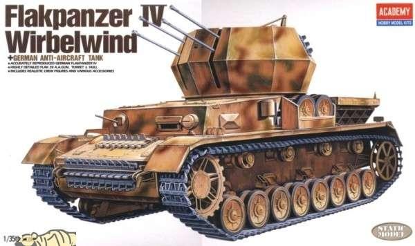 Plastikowy model do sklejania niemieckiego samobieżnego działka przeciwlotniczego Flakpanzer IV Wirbelwind.-image_Academy_13236_1