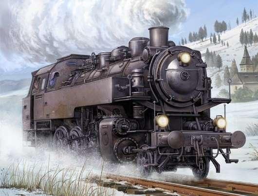 Niemiecka lokomotywa parowa BR86, plastikowy model do sklejania Trumpeter 00217 w skali 1:35.-image_Trumpeter_00217_1