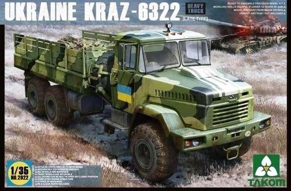 Ukraińska ciężarówka Kraz-6322 (wersja późna), plastikowy model do sklejania Takom 2022 w skali 1:35-image_Takom_2022_1