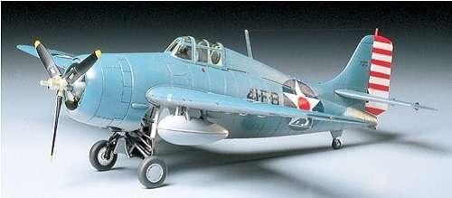 Amerykański myśliwiec Grumman F4F-4 Wildcat, plastikowy model do sklejania Tamiya 61034 w skali 1:48-image_Tamiya_61034_1