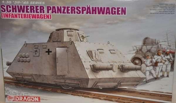 Niemiecki wagon pancerny dla piechoty, plastikowy model do sklejania Dragon 6072 w skali 1:35-image_Dragon_6072_1