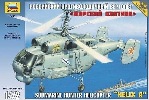 Model helikoptera KA-27 submarine hunter do sklejania w skali 1:72, Zvezda 7214-image_Zvezda_7214_1