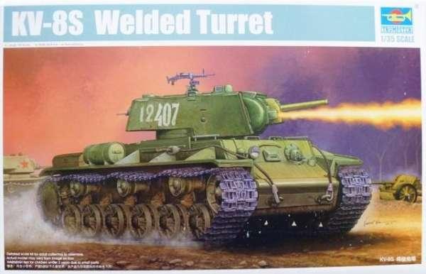 Radziecki ciężki czołg z WWII KV-8S - plastikowy model do sklejania w skali 1:35, model Trumpeter 01568.-image_Trumpeter_01568_1