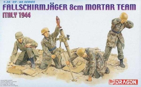 Model figurek żołnierzy  - Dragon 6215 Fallschmirjager 8cm Mortar Team - do sklejania - image a-image_Dragon_6215_1