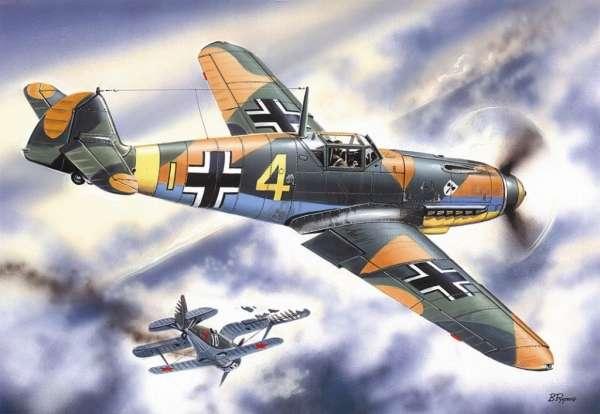 Niemiecki myśliwiec Messerschmitt Bf 109F-4, plastikowy model do sklejania ICM 48103 w skali 1:48-image_ICM_48103_1