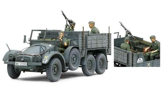 Niemiecki transporter piechoty - 6x4 Truck Krupp Protze (Kfz.70), plastikowy model do sklejania Tamiya 35317 w skali 1/35.-image_Tamiya_35317_1