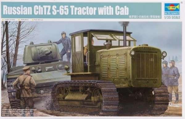 Model traktora gąsienicowego Chtz s-65 z kabiną do sklejania w skali 1:35.-image_Trumpeter_05539_1