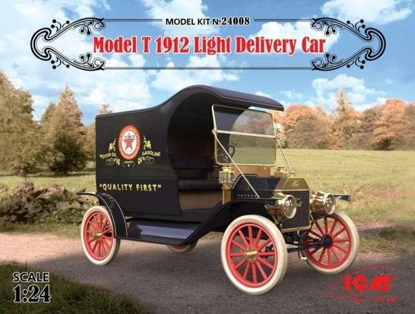 Lekki samochód dostawczy Ford T 1912, plastikowy model do sklejania ICM 24008 w skali 1:24-image_ICM_24008_1