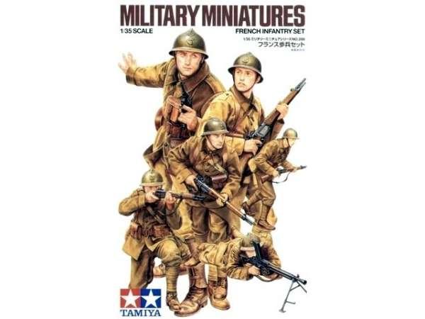 Francuscy żołnierze - oddział piechoty, plastikowe figurki do sklejania Tamiya 35288 w skali 1:35.-image_Tamiya_35288_1