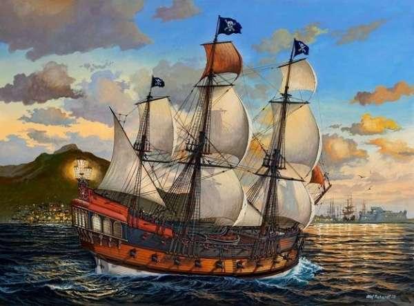 Trzymasztowy statek piracki, plastikowy model do sklejania Revell 05605 w skali 1:72-image_Revell_05605_1