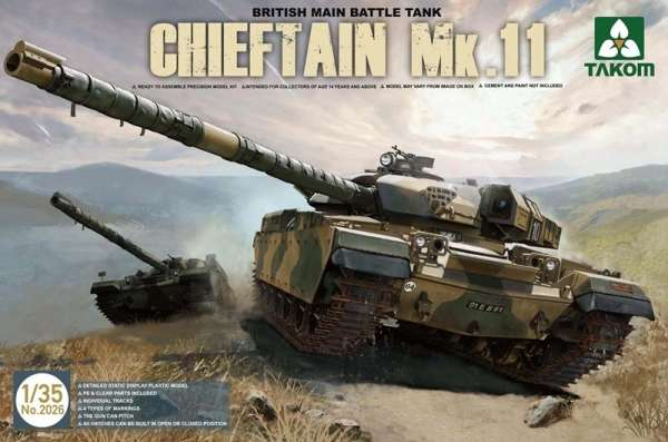 Brytyjski czołg podstawowy Chieftain Mk.11, plastikowy model do sklejania Takom 2026 w skali 1:35-image_Takom_2026_1