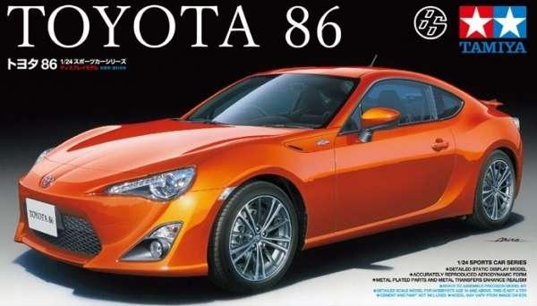 Japoński samochód Toyota 86, plastikowy model do sklejania Tamiya 24323 w skali 1:24.-image_Tamiya_24323_1
