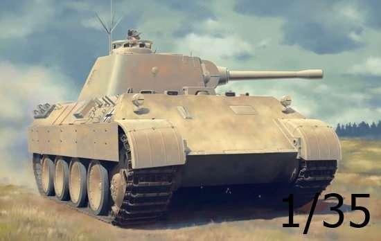 Niemiecki czołg średni Pz.Beob.Wg.V Panther Ausf.D, plastikowy model do sklejania Dragon 6813 w skali 1:35.-image_Dragon_6813_1
