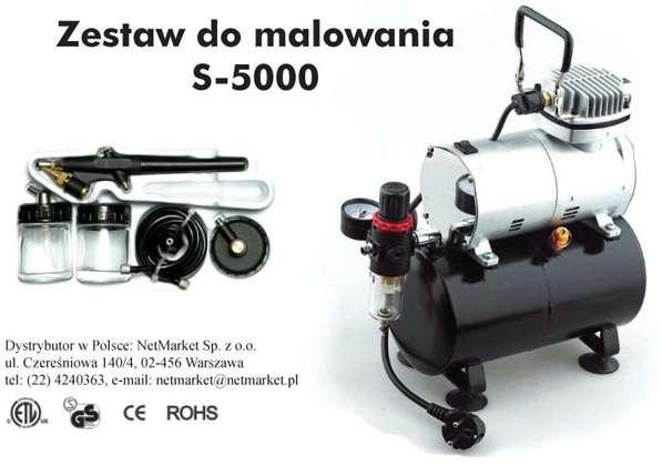 Zestaw do malowania HSPMC 0001 S5000 (kompresor, aerograf, i inne akcesoria)-image_HSPMC_HS0001_1