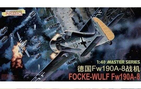 Plastikowy model samolotu Focke-Wulf Fw190A-8 do sklejania w skali 1:48.-image_Dragon_5502_1