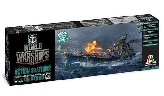 Plastikowy model do sklejania w skali 1:700, model Italeri 46502 - japoński krążownik Atago z serii World of Warships.-image_Italeri_46502_1