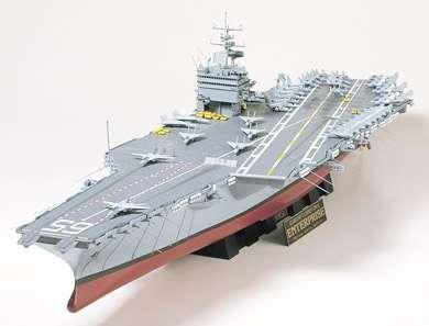 Amerykański lotniskowiec Enterprise, plastikowy model do sklejania i pomalowania Tamiya 78007 w skali 1/350.-image_Tamiya_78007_1