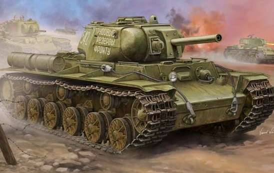 Model do sklejania ciężkiego czołgu KV-8S w skali 1/35. Trumpeter 01572-image_Trumpeter_01572_1