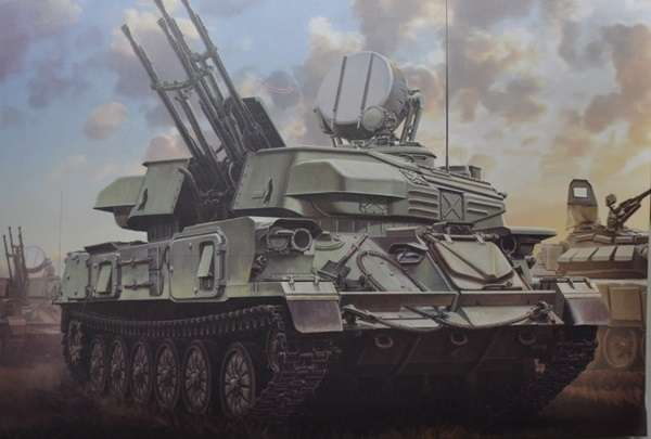 Plastikowy model do sklejania rosyjskiego systemu plot ZSU-23-4 Shilka model_meng_image_1-image_Meng_TS-023_1