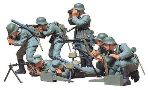 Niemiecka piechota z karabinami maszynowymi, plastikowe figurki do sklejania Tamiya 35038 w skali 1:35.-image_Tamiya_35038_1