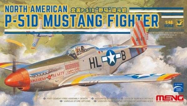 Amerykański myśliwiec P-51D Mustang, plastikowy model do sklejania Meng LS-006 w skali 1:48-image_Meng_LS-006_1