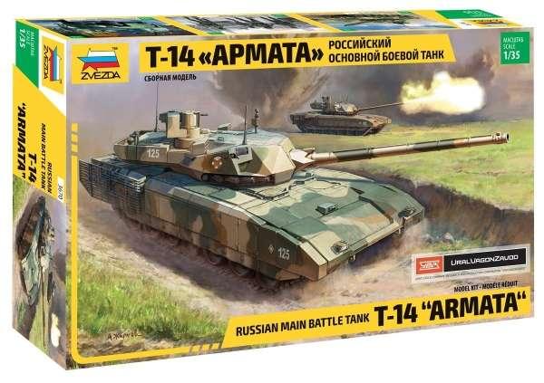 Rosyjski czołg podstawowy T-14 Armata, plastikowy model do sklejania Zvezda 3670 w skali 1:35.-image_Zvezda_3670_1