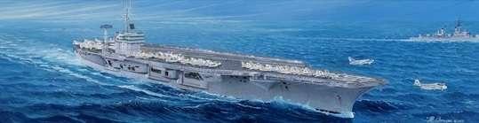 Amerykański lotniskowiec USS Nimitz CVN-68, plastikowy model do sklejania Trumpeter 05605 w skali 1:350.-image_Trumpeter_05605_1