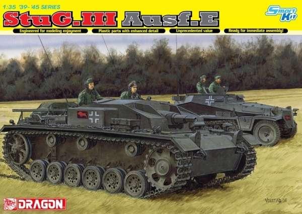 Amerykańskie samobieżne działo pancerne StuG III Ausf.E, plastikowy model do sklejania Dragon 6688 w skali 1:35.-image_Dragon_6688_1