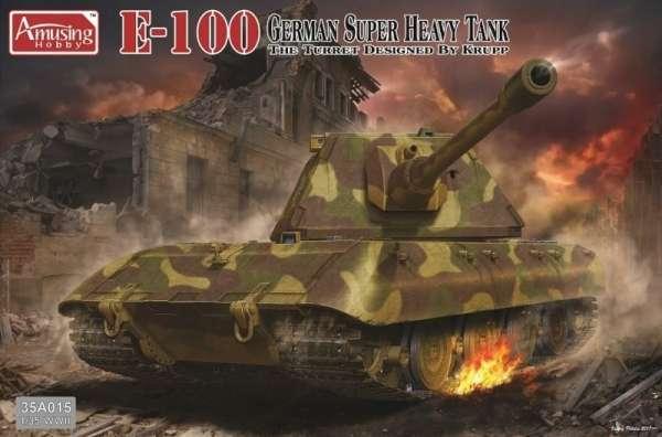 Niemiecki czołg super ciężki E-100, plastikowy model do sklejania Amusing Hobby 35A015 w skali 1:35-image_Amusing Hobby_35A015_1