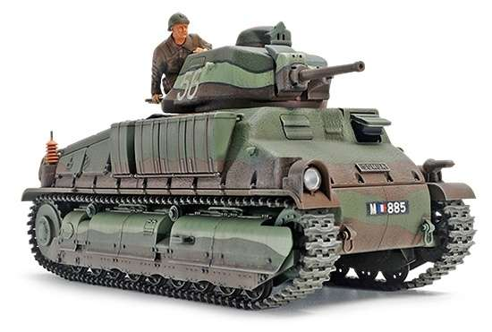 Francuski czołg średni Somua, plastikowy model do sklejania Tamiya 35344 w skali 1:35.-image_Tamiya_35344_1