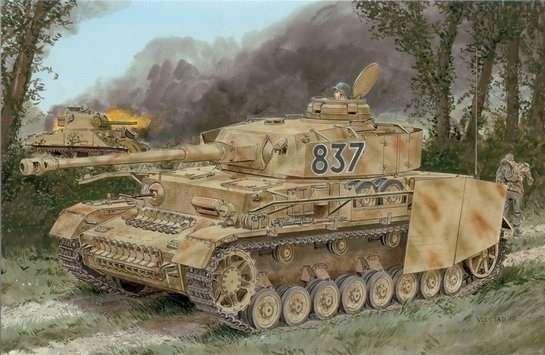 Model do sklejania niemieckiego czołgu PZIV w wersji H z zimmeritem w skali 1:35. Dragon 6560.-image_Dragon_6560_1