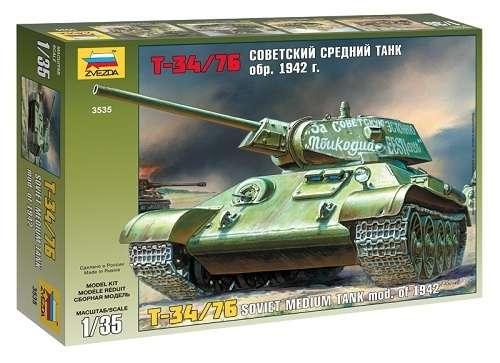 Radziecki czołg T-34/76, plastikowy model do sklejania Zvezda 3535 w skali 1:35-image_Zvezda_3535_1