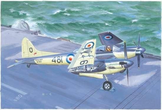 Brytyjski ciężki myśliwiec De Havilland Sea Hornet NF.21, plastikowy model do sklejania Trumpeter 02895 w skali 1:48-image_Trumpeter_02895_1