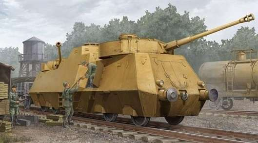 Niemiecki pancerny wagon Panzerjager-Triebwagen 51, plastikowy model do sklejania Trumpeter 01516 w skali 1:35.-image_Trumpeter_01516_1
