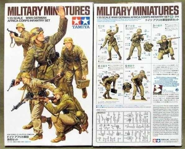 Figurki niemieckiej piechoty Africa Corps, plastikowy model do sklejania Tamiya 35314 w skali 1/35.-image_Tamiya_35314_1