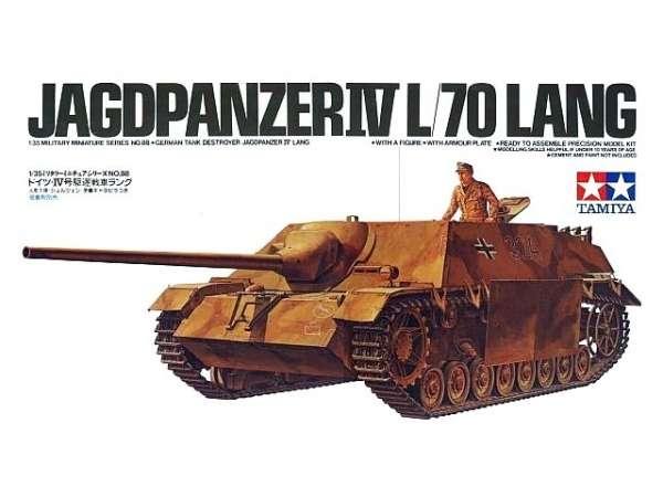 Niemiecki niszczyciel czołgów Jagdpanzer IV L/70 Lang, plastikowy model do sklejania Tamiya 35088 w skali 1:35-image_Tamiya_35088_1