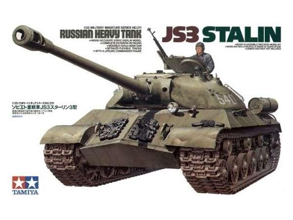 Plastikowy model radzieckiego czołgu JS-3 do sklejania w skali 1:35, model Tamiya 35211.-image_Tamiya_35211_1