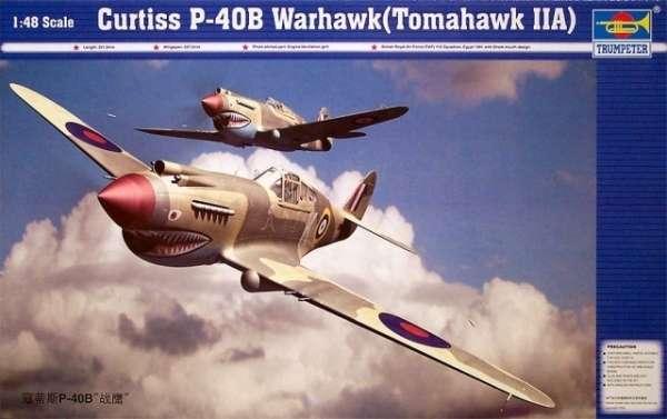 Plastikowy model do sklejania myśliwca P-40B Warhawk, model Trumpeter 02807_image_1-image_Trumpeter_02807_1