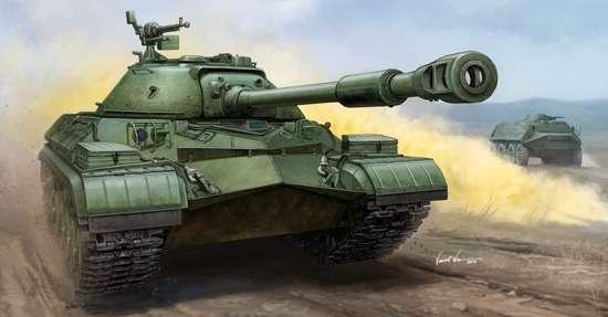 Radziecki ciężki czołg, ostatni z serii sowieckich czołgów IS-8, po śmierci Stalina jego nazwę zmieniono na T-10, plastikowy model do sklejania Trumpeter 05547 w skali 1:35-image_Trumpeter_05547_1
