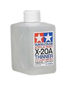 Tamiya Color Acrylic Paint - rozcieńczalnik Thinner X-20A do fabr akrylowych - 81040 - image a-image_Tamiya_81040_1