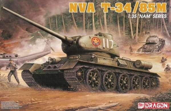 Radziecki czołg T-34/85M, plastikowy model do sklejania Dragon 3318 w skali 1:35.-image_Dragon_3318_1