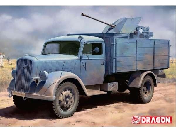 Plastikowy model do sklejania niemieckiej ciężarówki Opel Blitz w skali 1:35, możliwość wykonania 1 z 2 wersji. Model Dragon 6828.-image_Dragon_6828_1